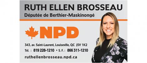 Député fédéral Berthier Maskinongé Ruth Ellen Brosseau