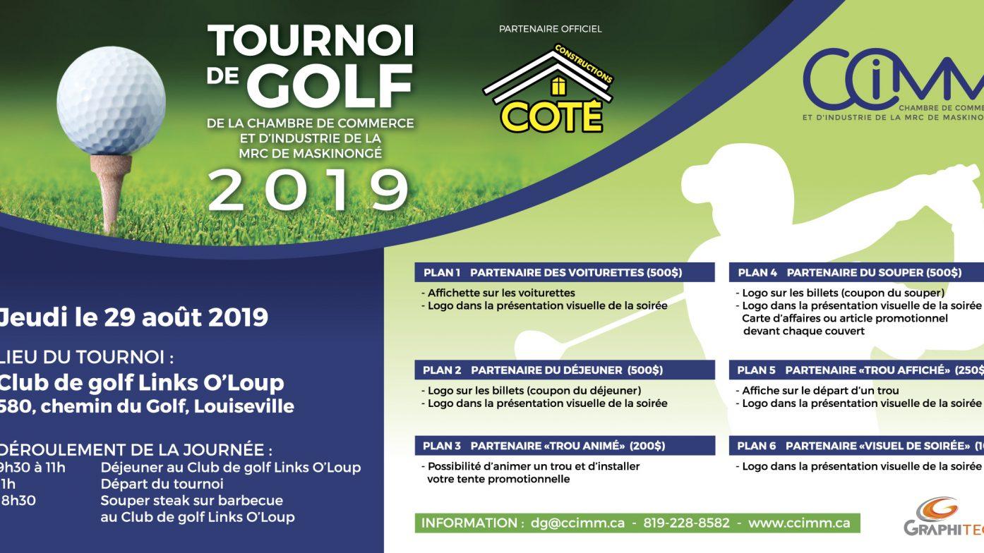Tournoi de golf 2019 – Achat quatuor membre