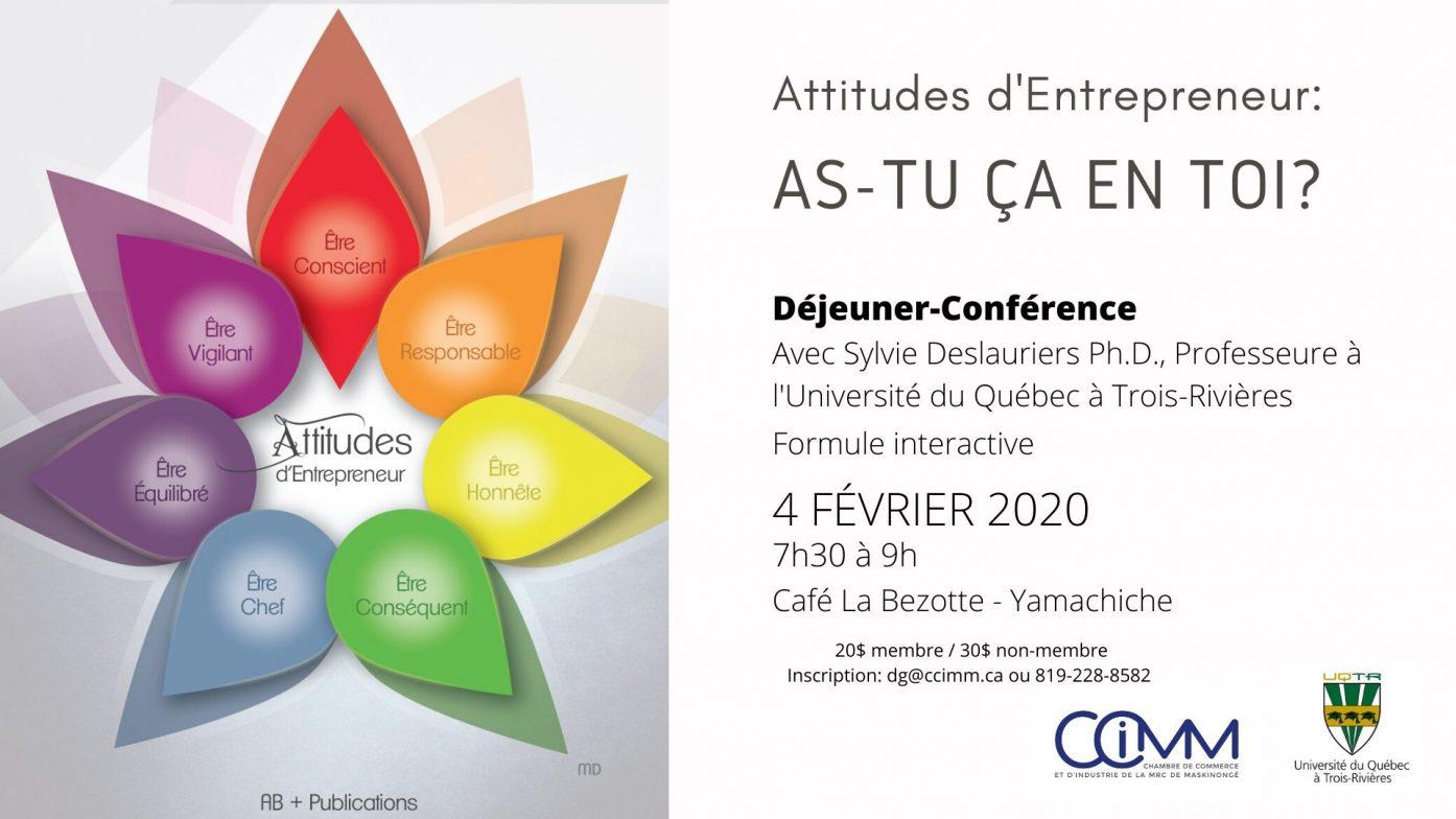 Déjeuner-Conférence: Attitudes d'Entrepreneur