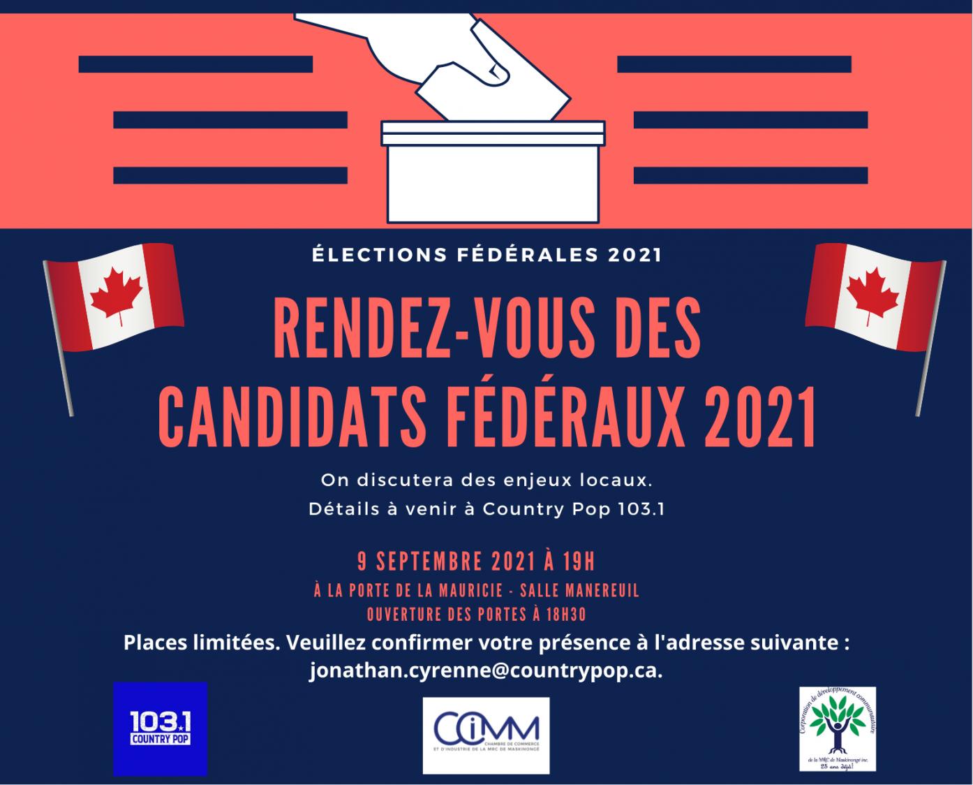 Rendez-vous des candidats fédéraux 2021